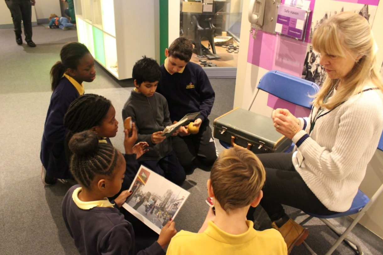 School visit to Hackney Museum