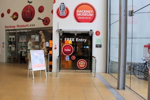 Hackney Museum entrance